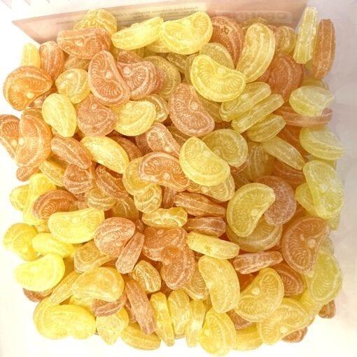 Apelsin och citronklyftor